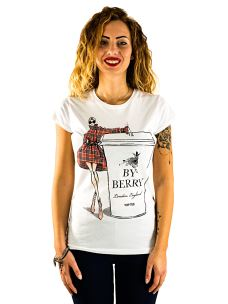 T-Shirt Donna Maniche Corte Stampa By Berry
