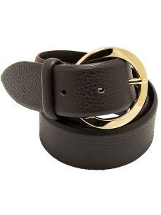 Cintura Donna-Liscia- in Pura Pelle Martellata-Made in Italy