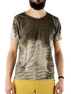 T-Shirt Paricollo-Uomo-Stampa Sfumata-Cotone-jersey