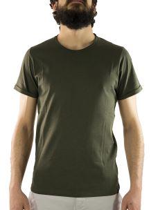 T-Shirt Uomo Paricollo Cotone Piuma