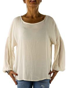 Camicia Donna in Pura Viscosa con Polsino-Made in Italy