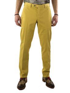 Pantalone-Chino-Uomo-in cotone elasticizzato-Made in Italy