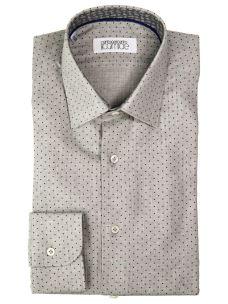 Camicia Sartoriale Popeline Fantasia - Interno Collo a Contrasto