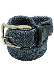 Cintura Elasticizzata Intrecciata Uomo Melange-Made in Italy