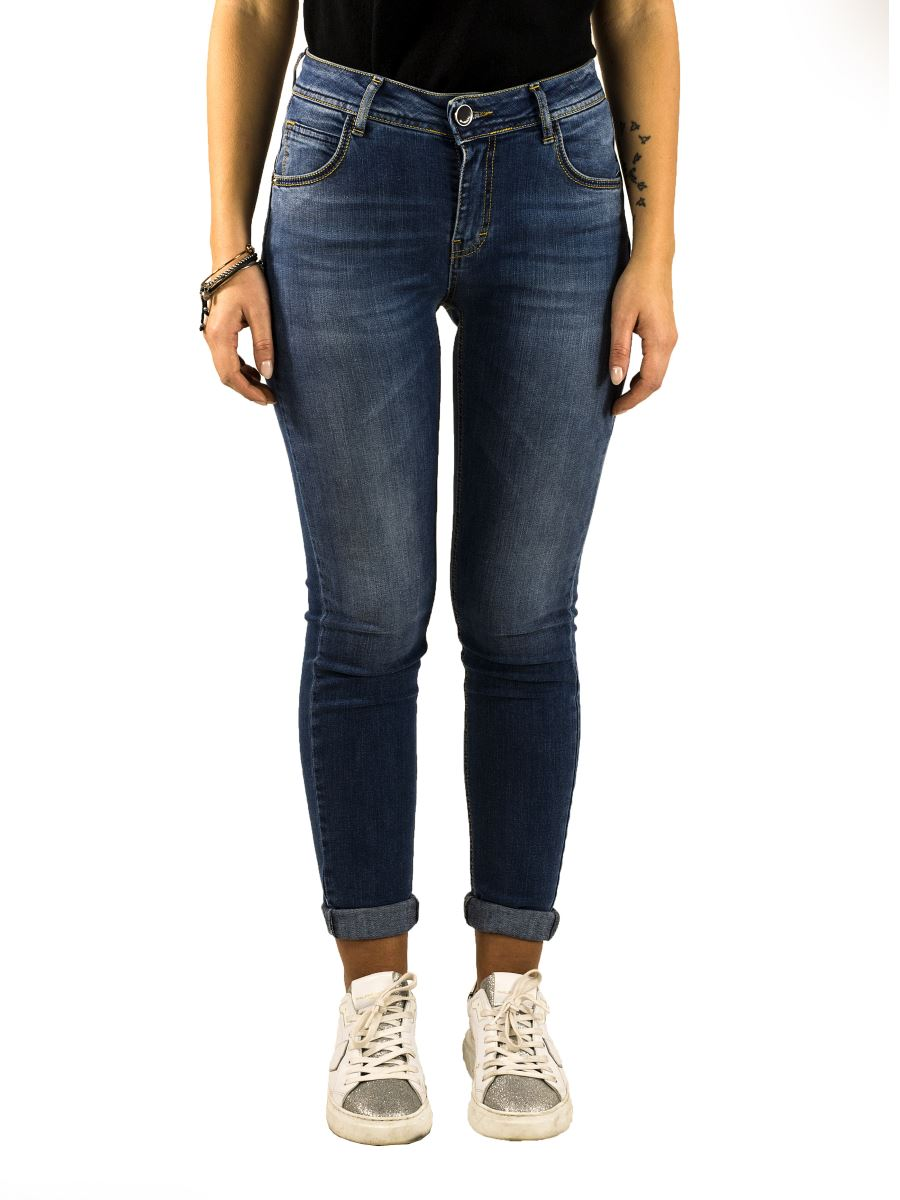 Jeans Donna Queguapa Stretch - Made in Italy