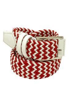 Cintura Uomo Elasticizzata Intrecciata Multicolor Made in Italy