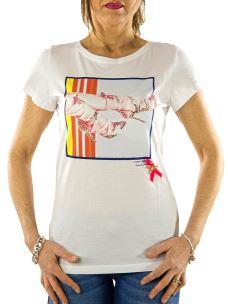 T-Shirt Donna Nenette - Danna - Stampa Scarpe e Applicazioni