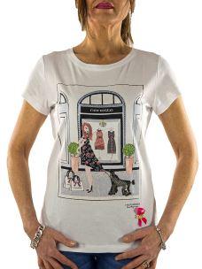 T-Shirt Donna Nenette - Demetra - Stampa Vetrina e Applicazioni