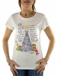 T-Shirt Donna Nenette - Dionisia - Stampa Favola e Applicazioni