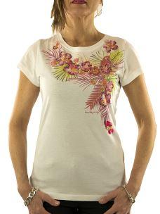 T-Shirt Donna Nenette - Doc - Stampa Floreale e Applicazioni