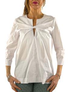 Camicia Blusa Donna in cotone elasticizzato