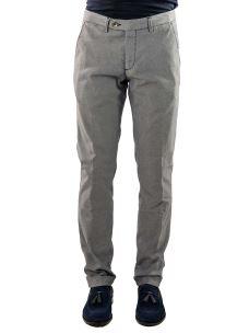 Pantalone Cotone Microfantasia Uomo Classico
