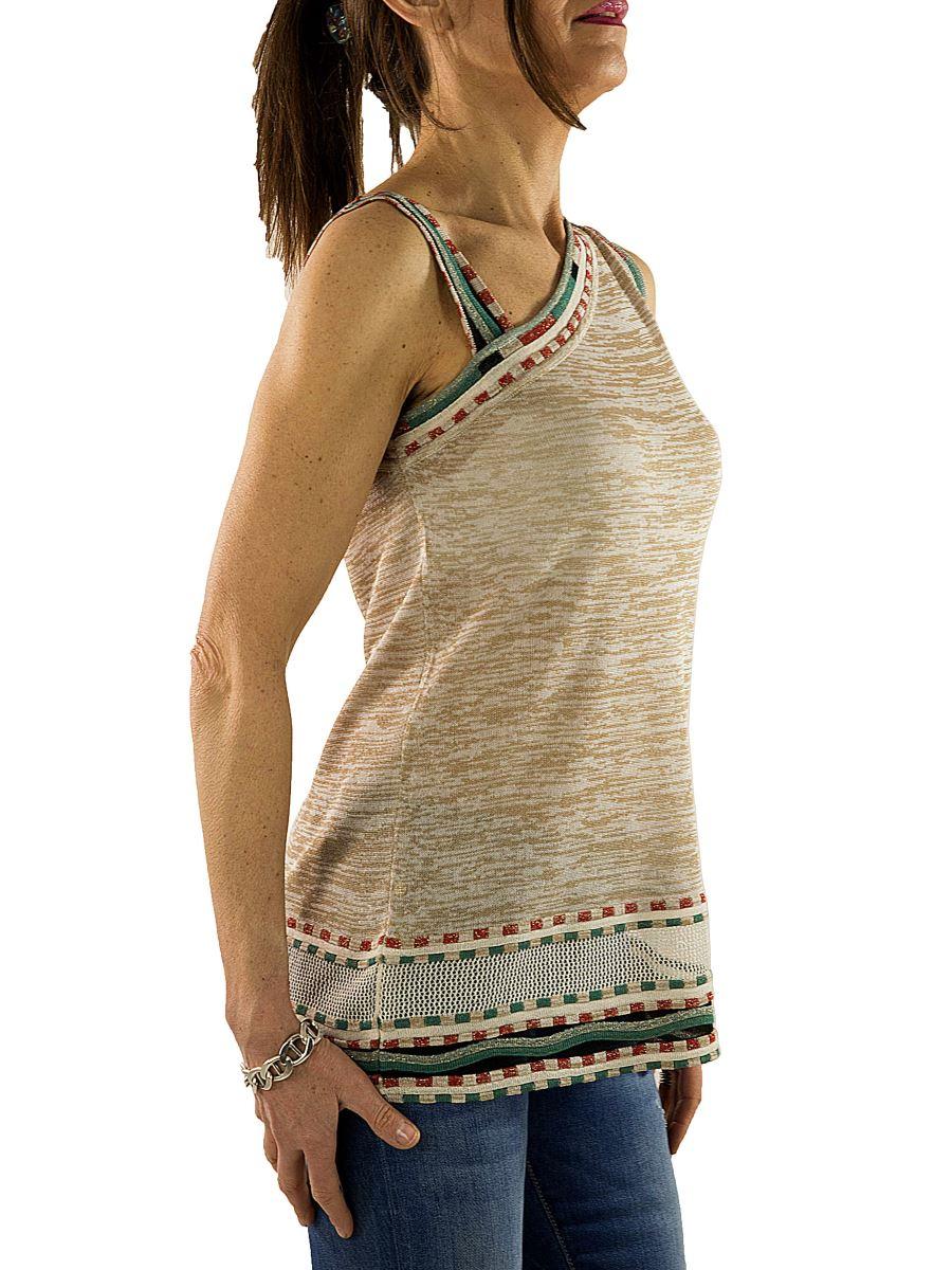 Monospalla Nenette Mainapps Lurex Top In profili Mariposa Donna dqBpE4