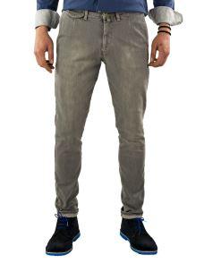 Jeans-Uomo-Chino-Elasticizzato-Sartoriale-Grigio