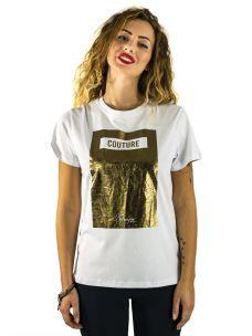 T-Shirt Donna Stampa Couture Maniche Corte