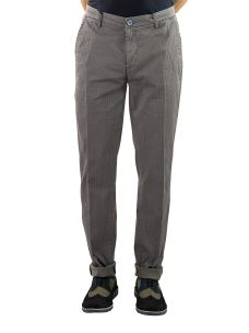 Pantalone Uomo Chino Stampato Margherite Slim Fit