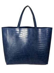 Borsa Shopper Donna in Ecopelle con Pochette Estraibile