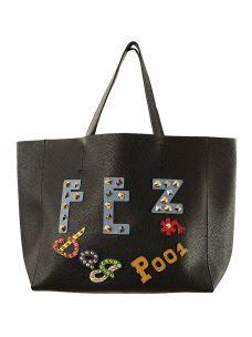 Borsa Shopper Logo FEZ-Donna-Ecopelle-Pochette Interna