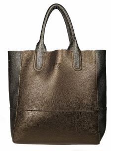 Borsa Shopper Media Donna in Ecopelle con Tracolla