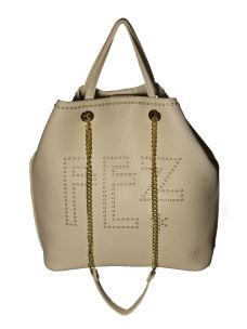 Borsa Shopper Donna in Ecopelle FEZ con logo in Metallo