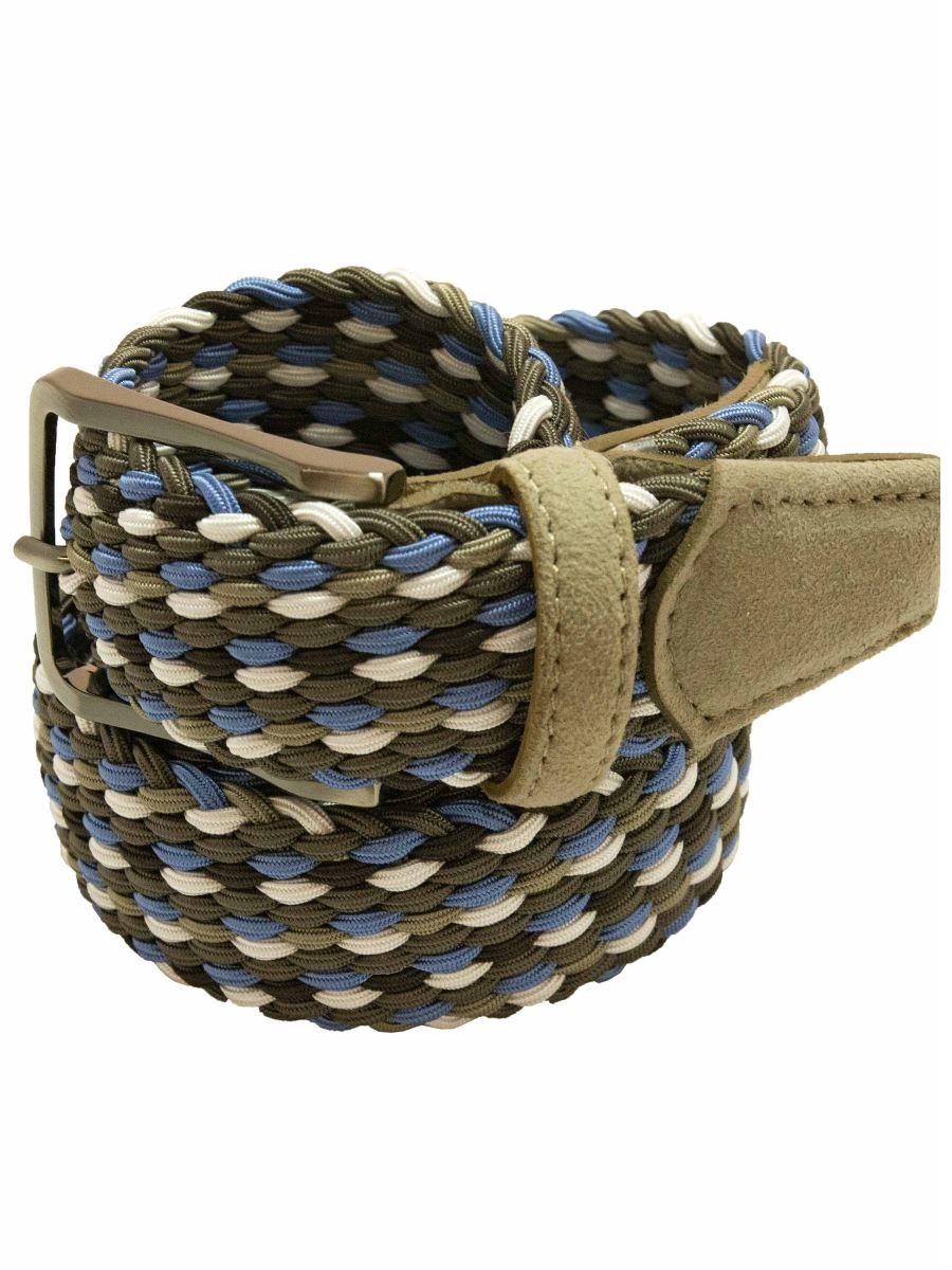 Cintura Intrecciata Elasticizzata da Uomo-Paolo Da Ponte