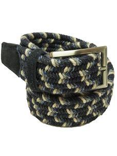 Cintura Intrecciata Elasticizzata Lana e Cotone - Made in Italy