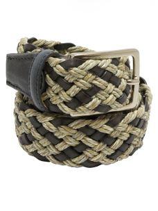 Cintura Uomo Intrecciata in Cotone e Rigenerato Made in Italy