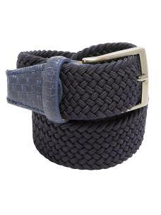 Cintura Intrecciata Elasticizza Contrasti Pelle -Made in Italy