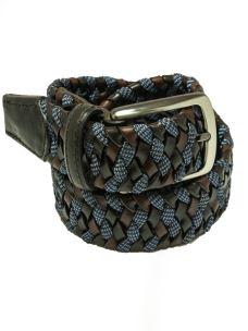 Cintura Intrecciata Elastica Cuoio Rigenerato -Made in Italy
