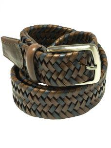 Cintura Intrecciata in Cuoio Rigenerato-Made in Italy