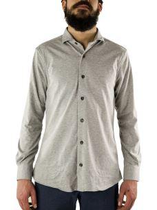 Camicia Sartoriale in puro Cotone Jersey Piquet