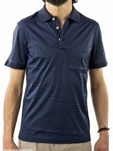 Polo a righe-D'Uomo-in Cotone-Made in Italy