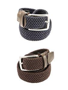 Cintura Elasticizzata Old-Crest Contrasti in Pelle Made in Italy