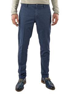 Pantalone Chino Uomo-Microfantasia-Stretch