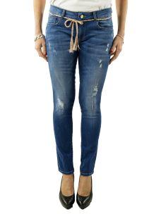 Jeans Nenette-Donna-Bottom Up-elasticizzato-strappi e cintura