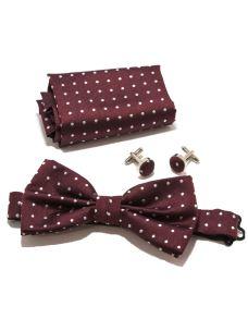 Kit Papillon+fazzoletto+gemelli in seta +box regalo
