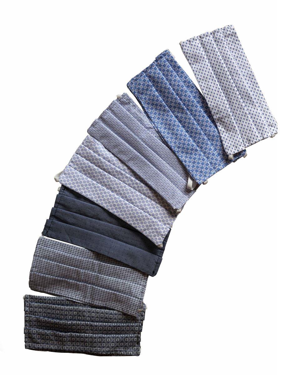 Mascherine Lavabili Donna Uomo Cotone e Tasca filtro (5 PZ)