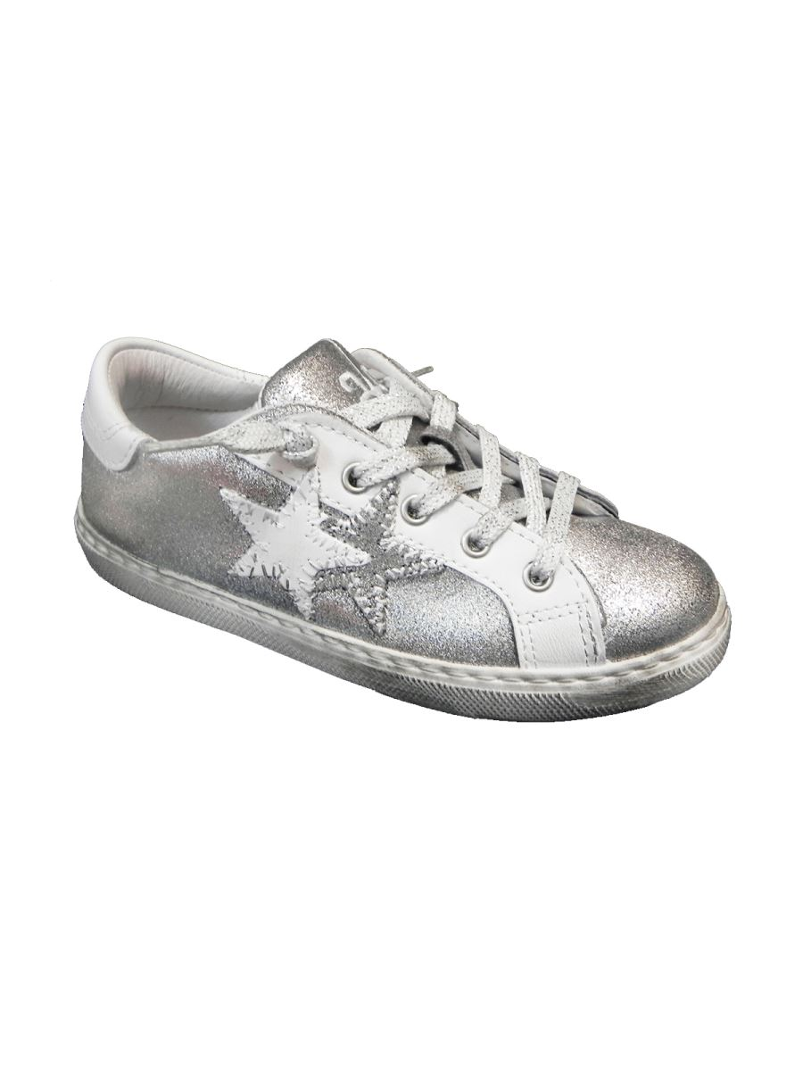 2 Stars sneakers bassa in pelle