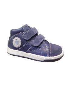 Balocchi sneakers alta con velcro blu