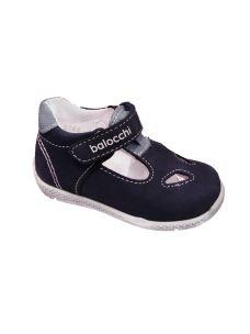 Balocchi sandalo con occhi primi passi in pelle con velcro
