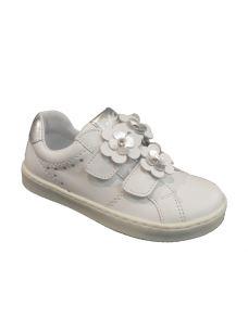 Balocchi scarpa bassa con fiori applicati e chiusura in velcro