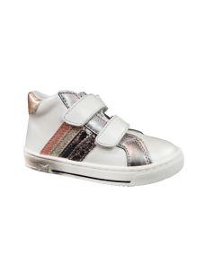 Balocchi scarpa in pelle bianca con velcro