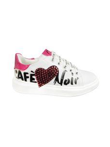 Cafè Noir sneakers con cuore con brillantini
