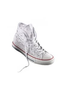 Converse Chuck Taylor All Star Crochet pizzo bianco