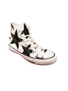 Converse Chuck Tylor fantasia stelle bianco nere
