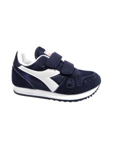 Diadora Simple Run bassa blu con velcro