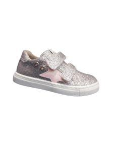 Scarpa bassa con velcro glitter