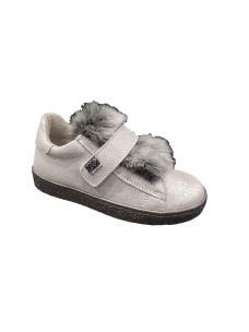EB Shoes snakers bassa con velcro e pelliccia