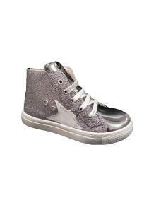 EB Shoes sneakers alta con lacci e zip