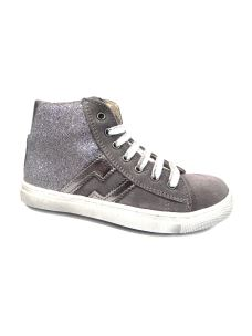 Euro Bimbi Shoes sneakers alta con zip e glitter